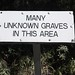 unmarked graves here