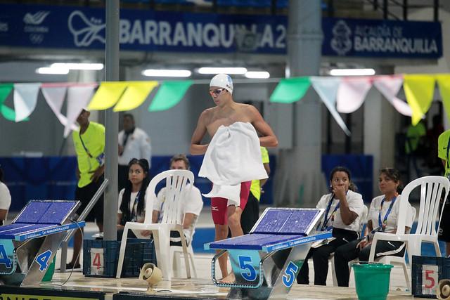 Oro del nadador Luis Carlos Martínez