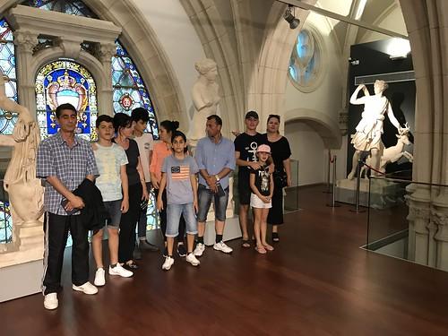 Visita #Refugiados de ClaretEnea a #Museo Reproducciones de #Bilbao