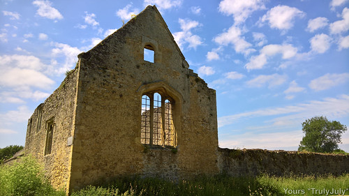 The ruins of Godstow Abbey
