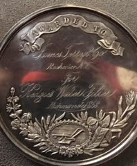 Agricultural Society medal reverse insription