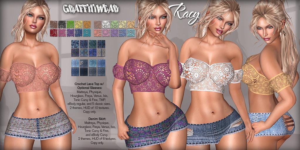 Racy Top & Skirt Ad - TeleportHub.com Live!
