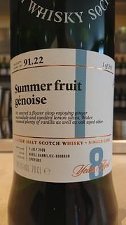 SMWS 91.22 - Summer fruit génoise