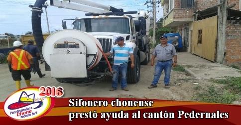 Sifonero chonense prestó ayuda al cantón Pedernales