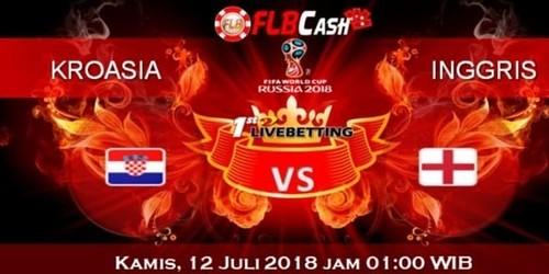 Prediksi Bola Piala Dunia – Kroasia vs Inggris, hari Kamis, 12 Juli 2018