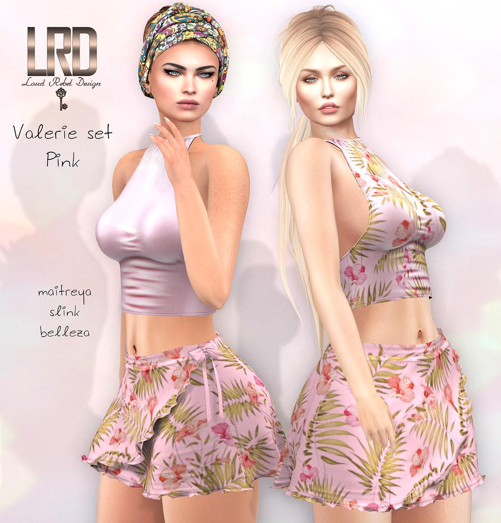 LRD Valerie set pink - TeleportHub.com Live!