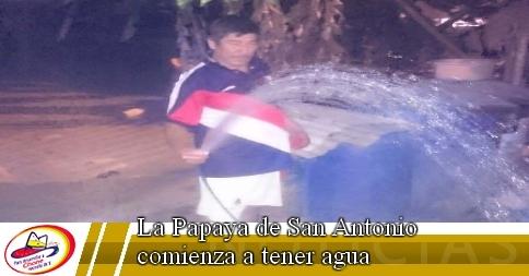 La Papaya de San Antonio comienza a tener agua