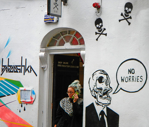A Temple Bar with a 'fresh mural' (Dublin, Ireland)