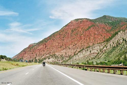 landscape freeway interstatehighway motorway mountain colorado unitedstates