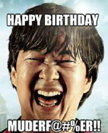 Birthday Quotes : Happy Birthday From Chow - Funny Happy Birthday Meme