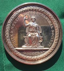 Agricultural Society medal obverse