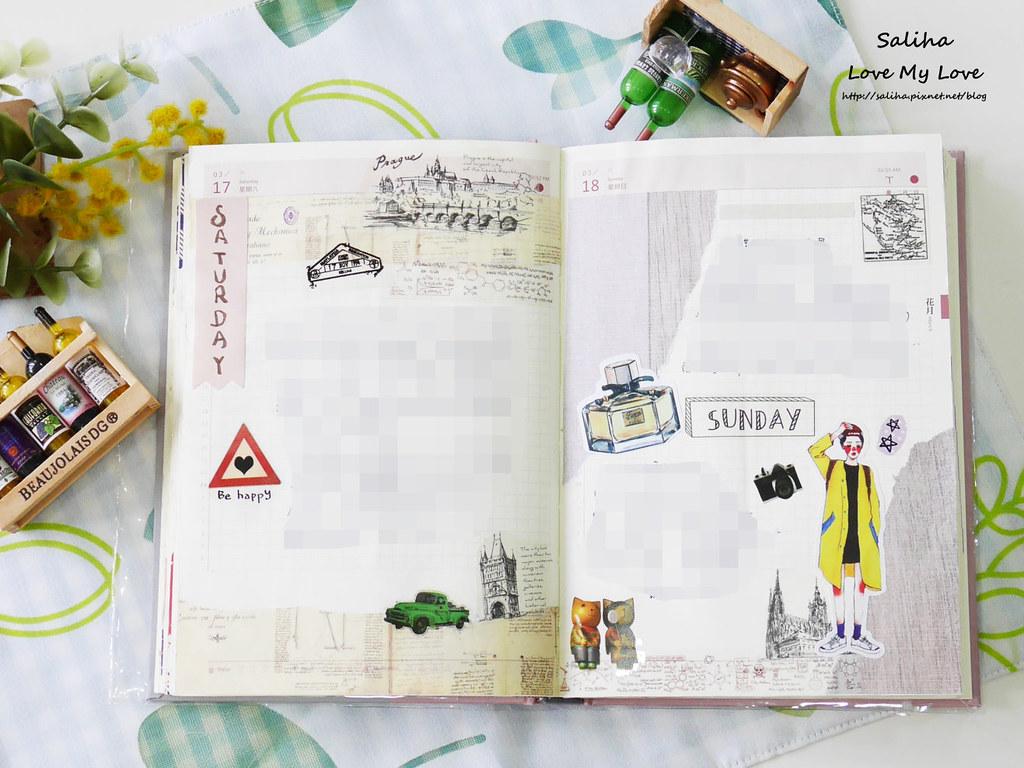 三月手帳紙膠帶拼貼應用分享 (9)