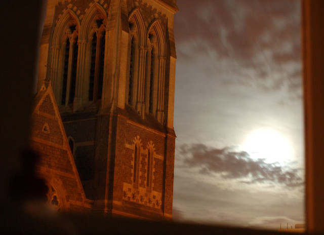 eerie church, by Richmond Road, Cardiff