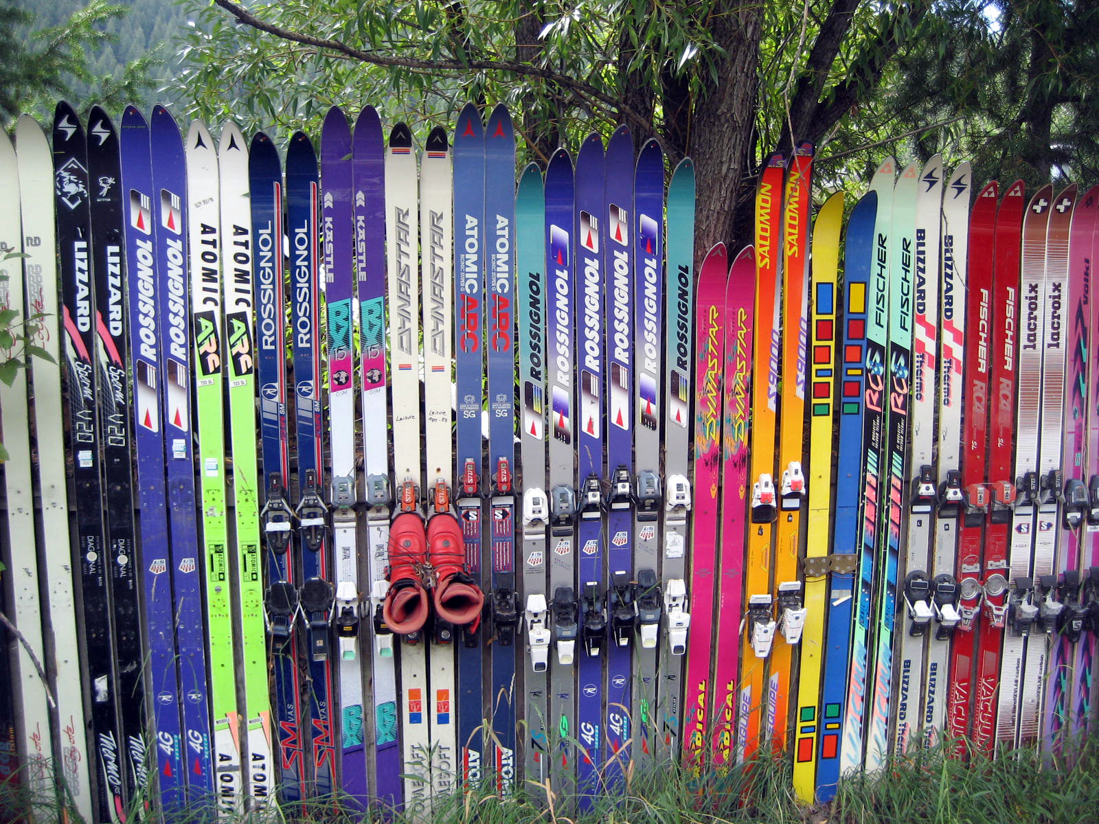 Hopeless Repurposing of Old Skis, Part I | Flickr - Photo ...