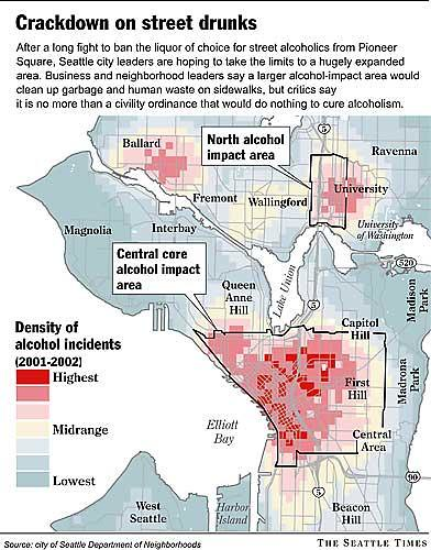 Alcohol impact areas, Seattle