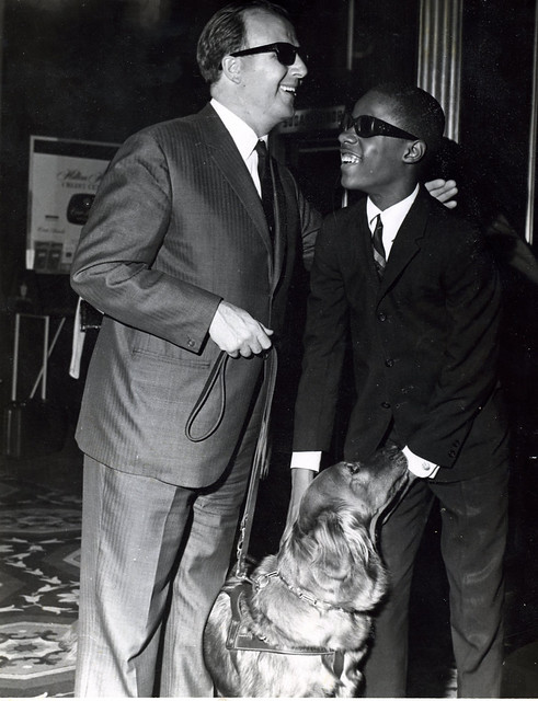 Stevie Wonder and George Shearing, 1963--Two Great Blind Pianists