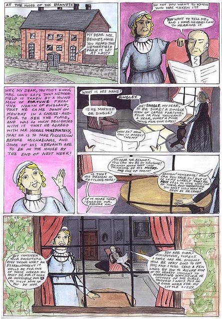 Pride and Prejudice, the comic, page 1