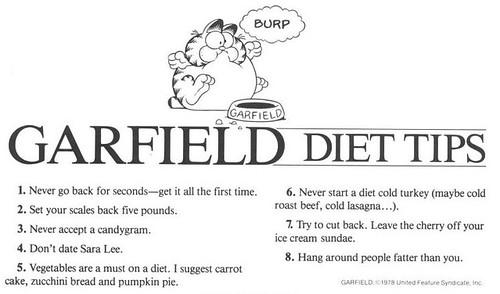 Garfield diet tips