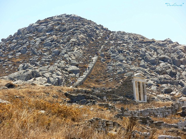 Delos - Mount Kynthos and Temple of Isis  Mount Kynthos ...