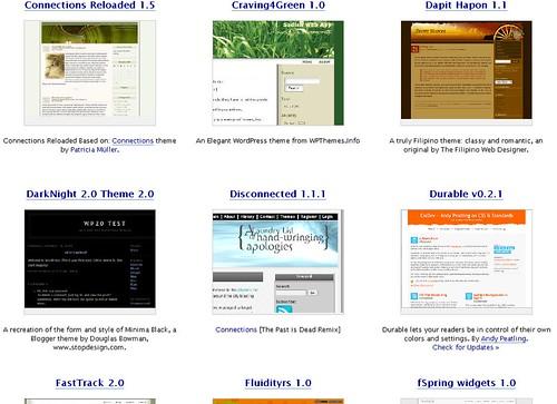 new WordPress themes on Dreamhost