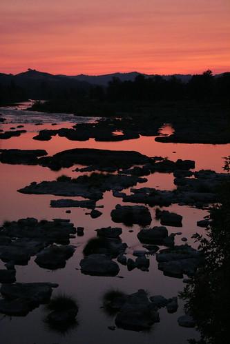 pink sunset sky oregon stream craterlake