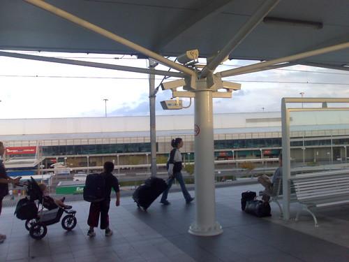 CCTV cameras at a train station