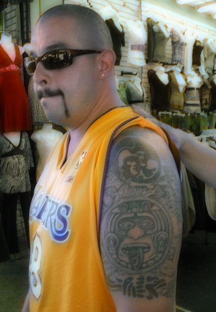 Aztec lakers flickr photo sharing for Laker tattoo designs