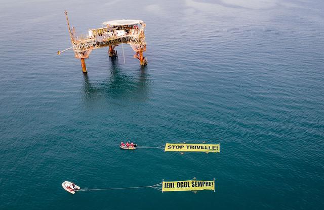 Trivelle - Blitz di Greenpeace