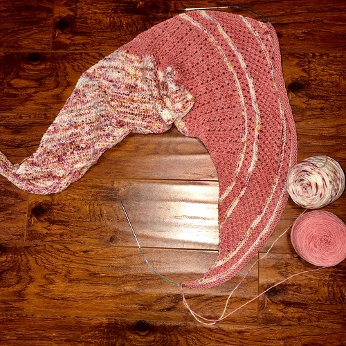 Casapinka's Local Yarn Shawl pattern is free with the purchase of yarn. My sample is on my needles...Love my yarn choice! What will you choose?