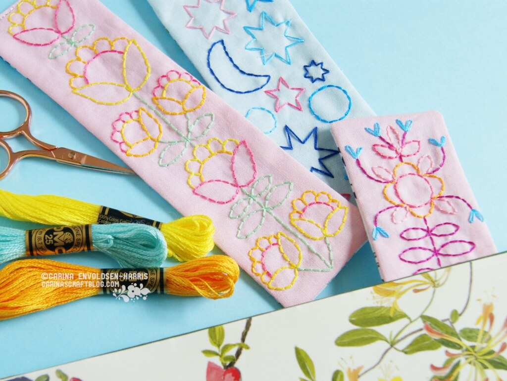 Bookmark embroidery patterns