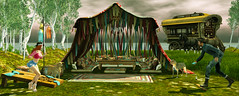 Artisan Fantasy - Boho Tent, And Playable Cornhole Games