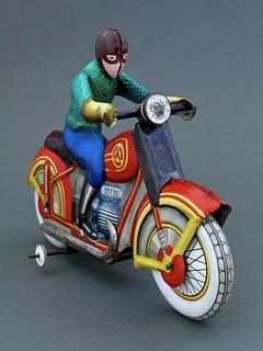 Motorcyclist, Soviet Union 1970's