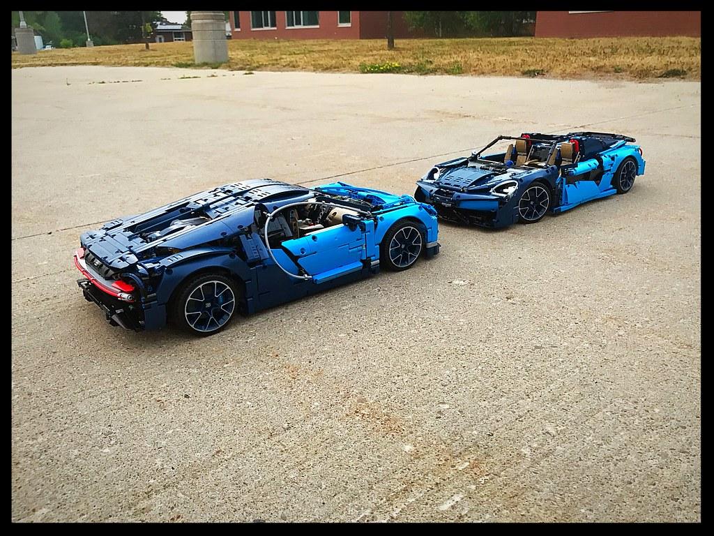 LEGO® Bugatti omgebouwd tot LEGO® Mclaren