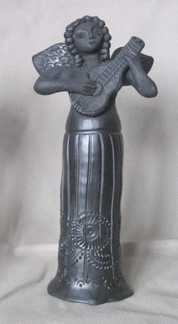 Black Pottery Angel Oaxaca Mexico