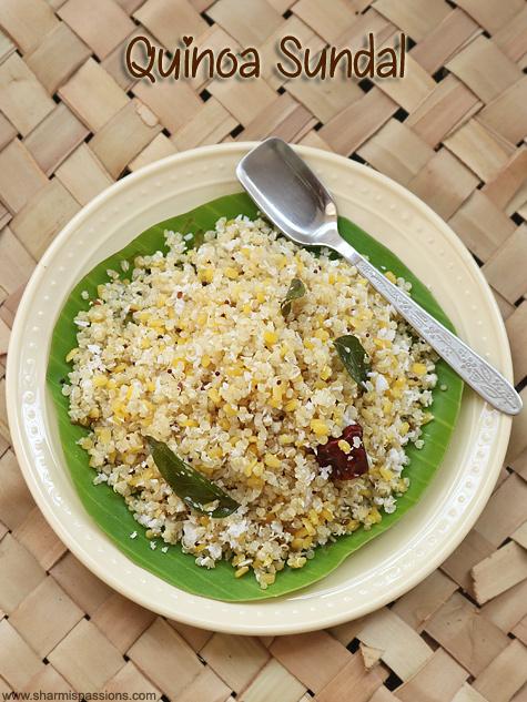 quinoa sundal recipe