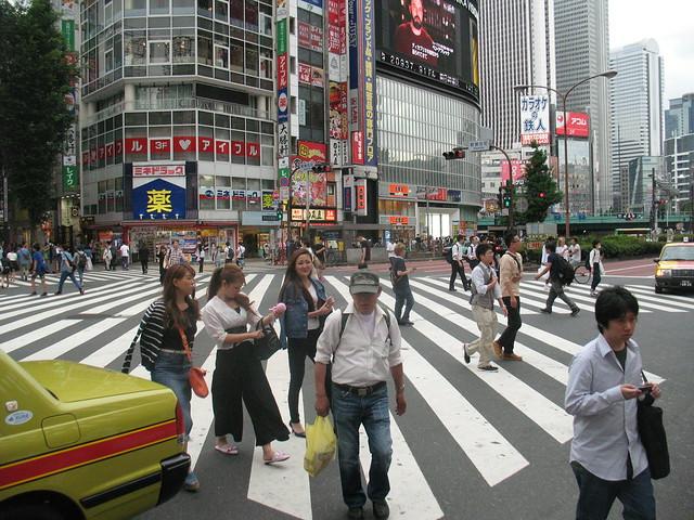 Japan, road crossings