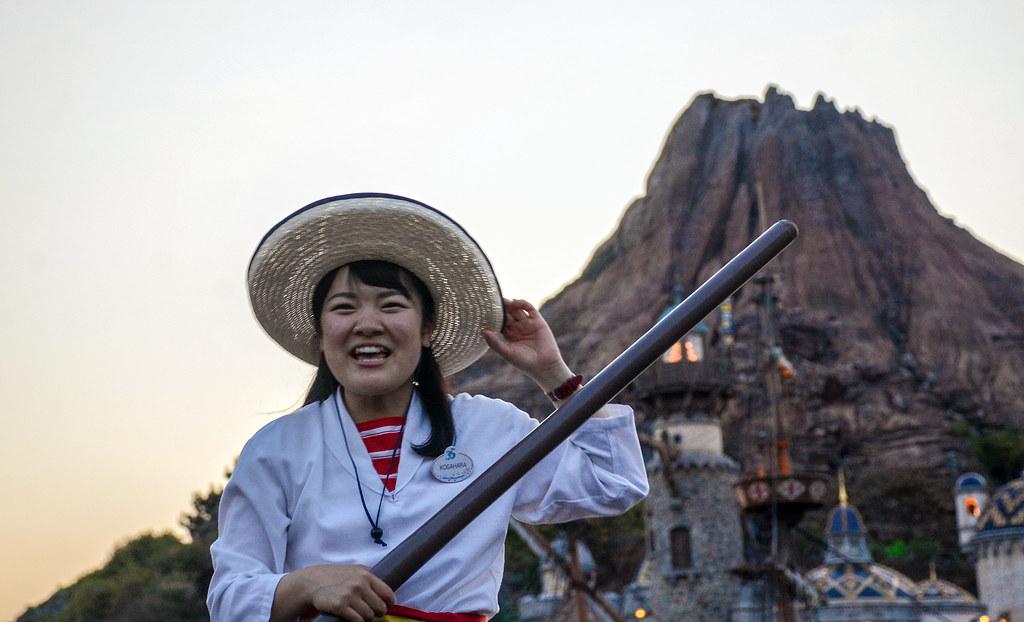 Lady smiling Venetian Gondolas TDS