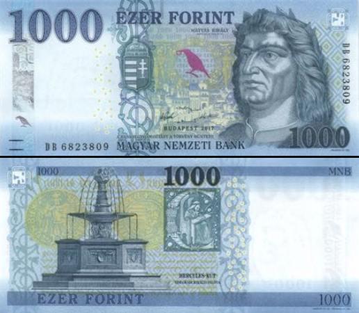 1000 Forintov Maďarsko 2017 (2018), P203