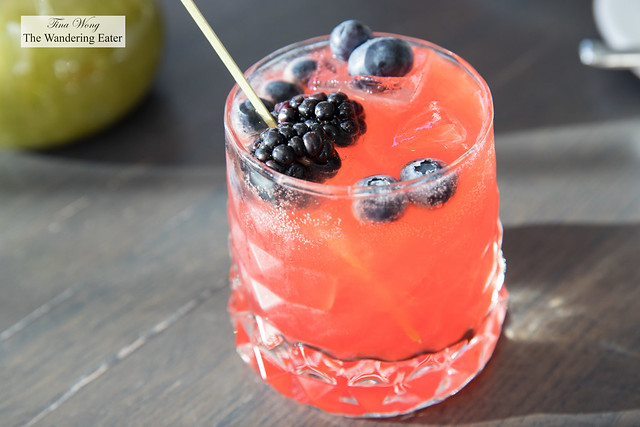 The Countdown - Aperol, blackberry blueberry syrup, Amaro Montenegro, lemon topped with soda water