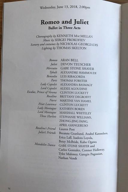 木, 2018-06-14 15:08 - Romeo and Juliet by American Ballet Theatre