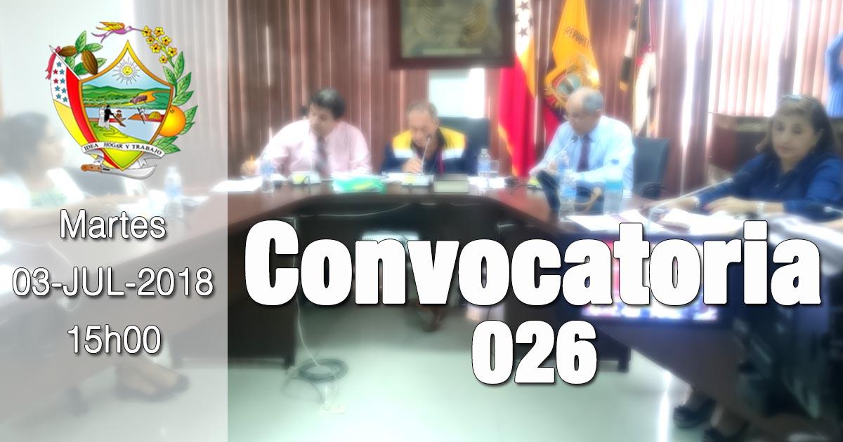Convocatoria 026