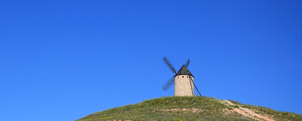 Molino de viento (Belmonte, Castilla-La Mancha, España, 17-6-2018)