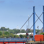 Towards the Swing Bridge at Preston Docks