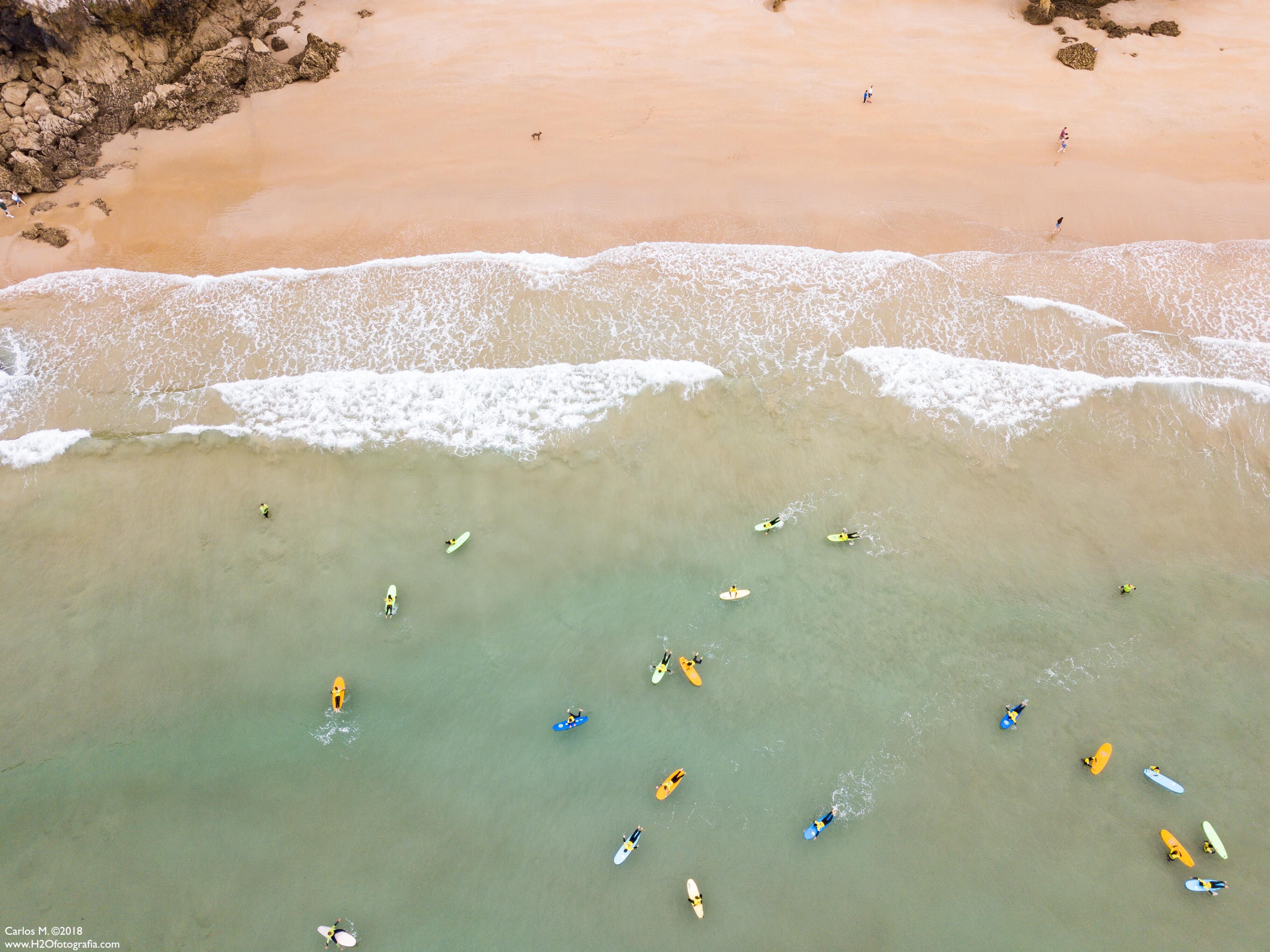 Escuela de surfistas