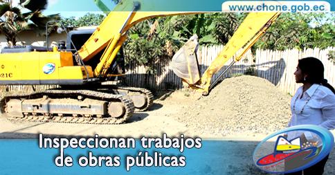Inspeccionan trabajos de obras públicas