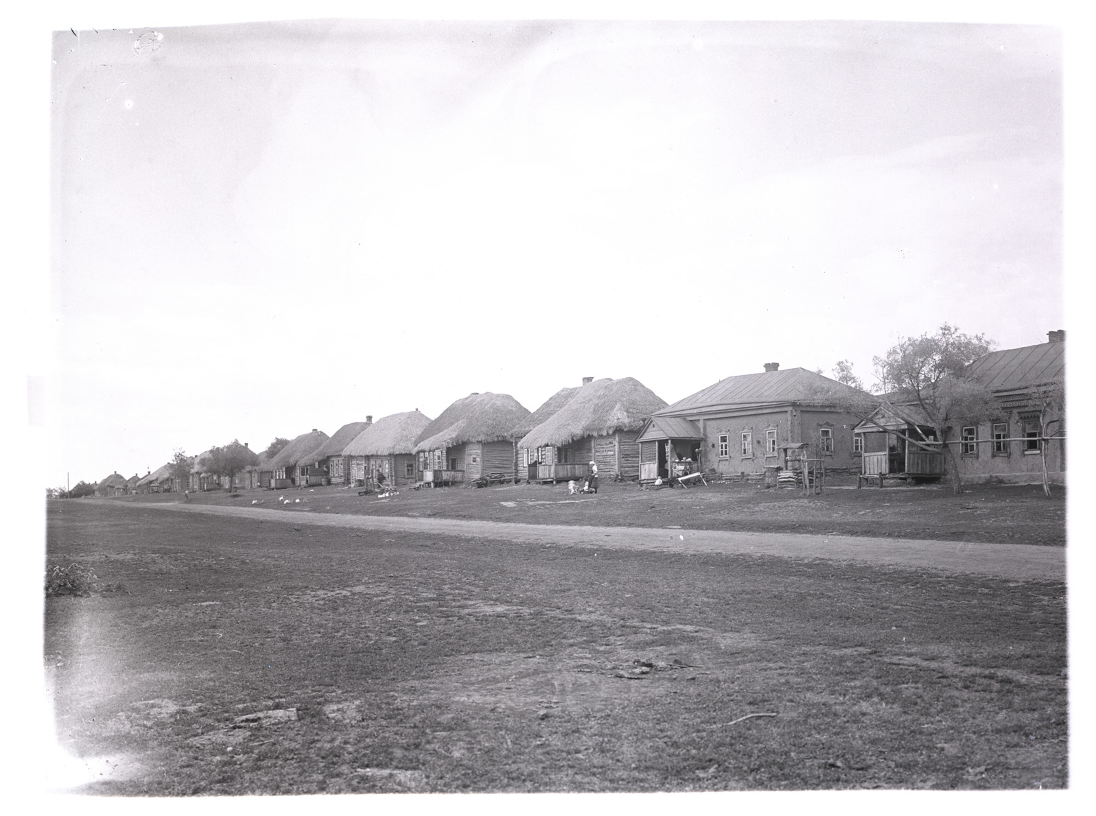 Село Лермонтово. Улица Бугор. Фотография В.Г. Чудинова. 1938 г.