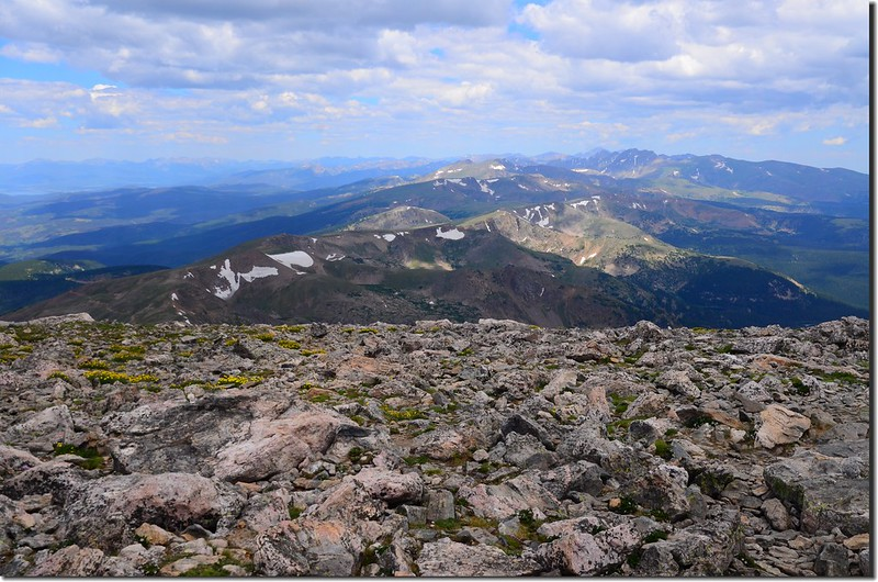Looking north at Rockies from James Peak summit (3)