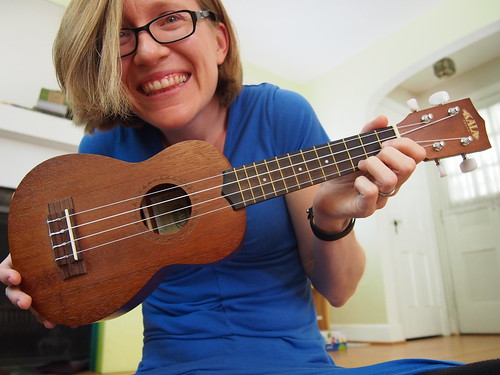 So excited about learning to play uke!