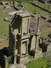 Roman and Etruscan ruins in Volterra