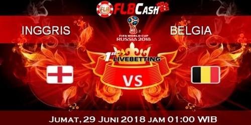 Prediksi Bola Piala Dunia – Inggris vs Belgia, hari Jumat, 29 Juni 2018